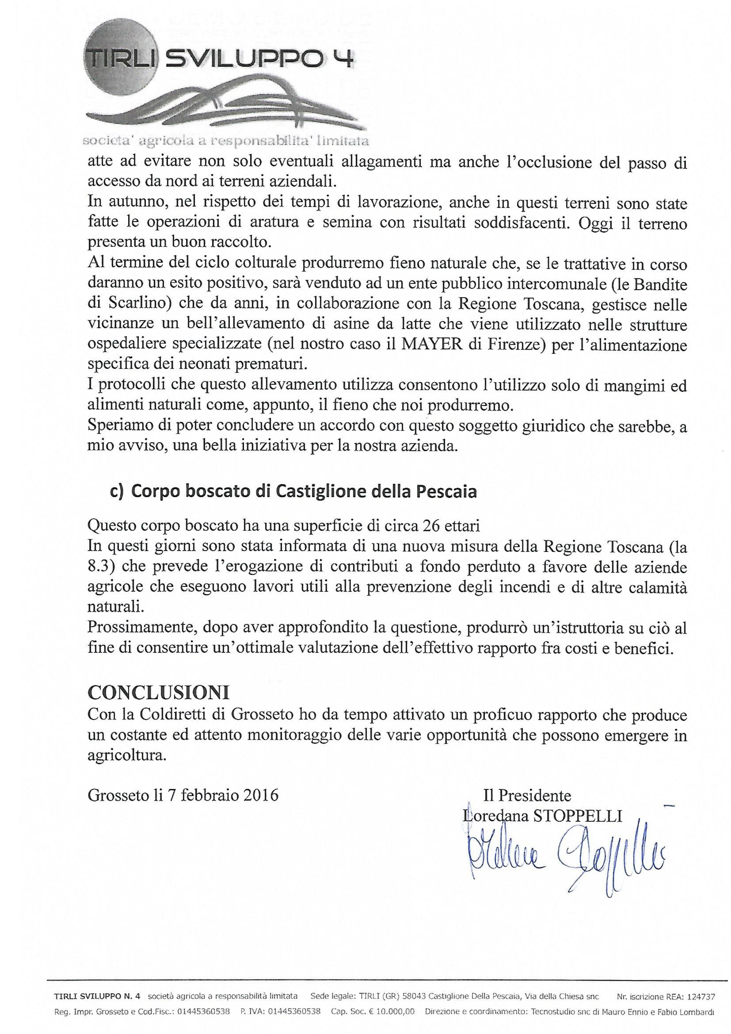 RELAZIONE AGRICOLA 2015-1-2